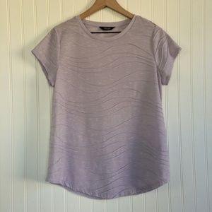 Simply Vera Vera Wang Lilac Top Short Sleeve L/XL